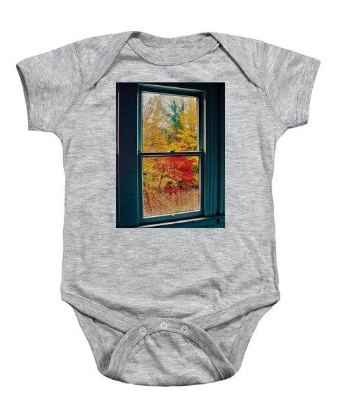 Winter Window Baby Onesie