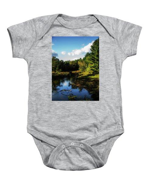 Wisconsin Waterscape Baby Onesie