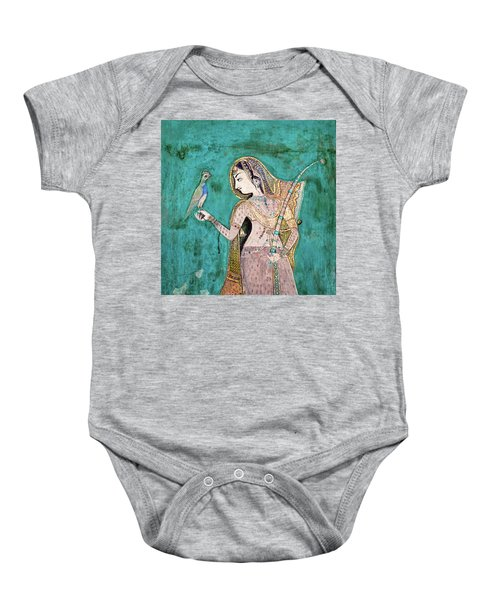 Woman With Parrot Baby Onesie