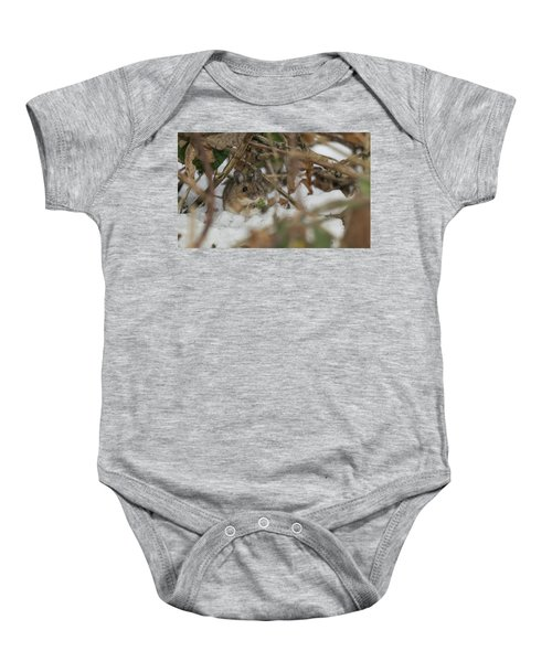 Wood Mouse Baby Onesie