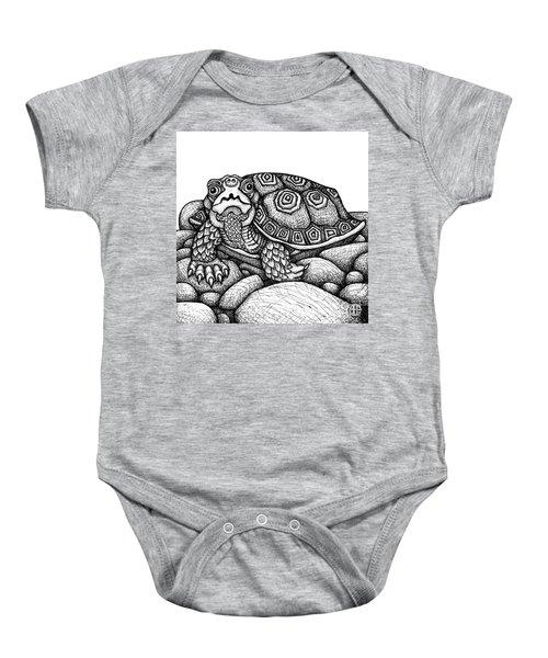 Wood Turtle Baby Onesie