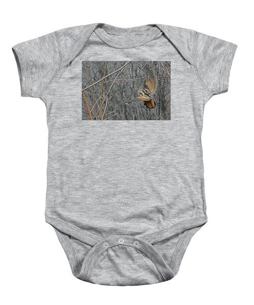 Woodcock Feathers Baby Onesie