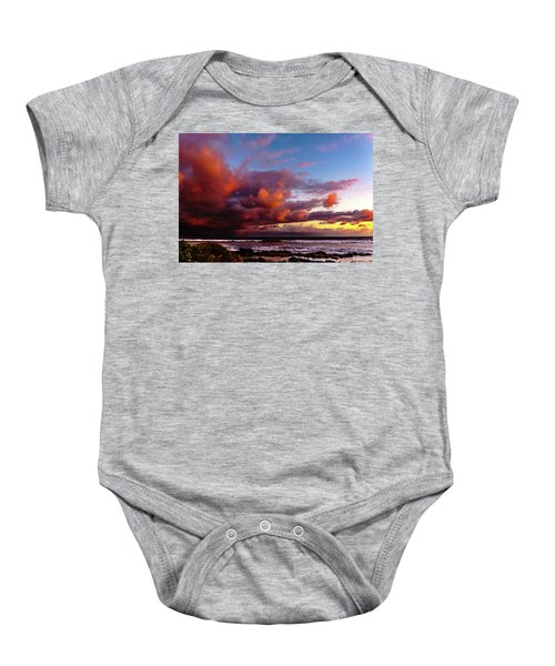 Baby Onesie featuring the photograph Wow Clouds Over Sea by John Bauer