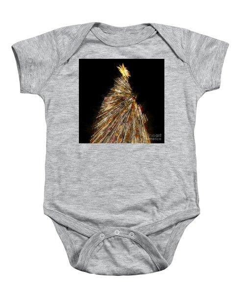 Xmas Tree Motion Art Baby Onesie