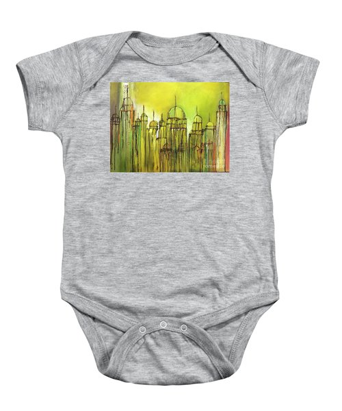 Yellow Mosque  Baby Onesie
