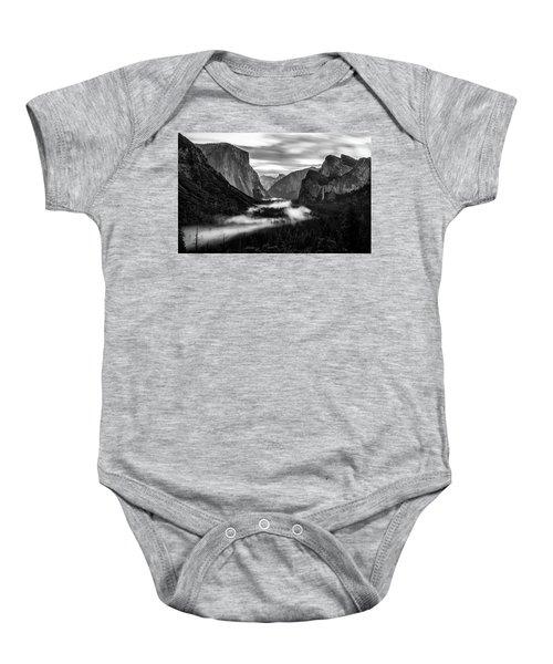 Yosemite Fog 1 Baby Onesie