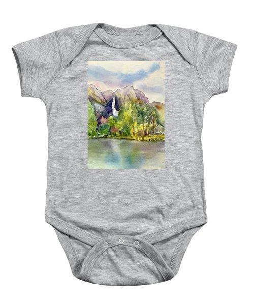 Yosemite Waterfalls Baby Onesie