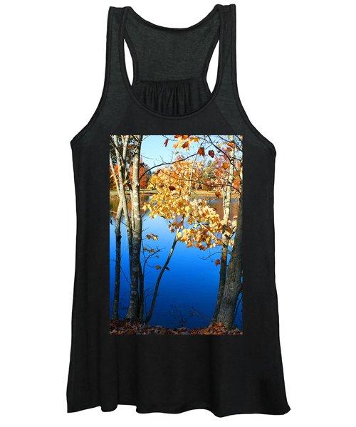 Autumn Trees On The Lake Women's Tank Top