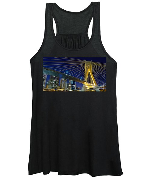 Sao Paulo's Iconic Cable-stayed Bridge  Women's Tank Top