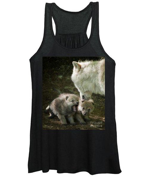 Arctic Wolf Pups Women's Tank Top