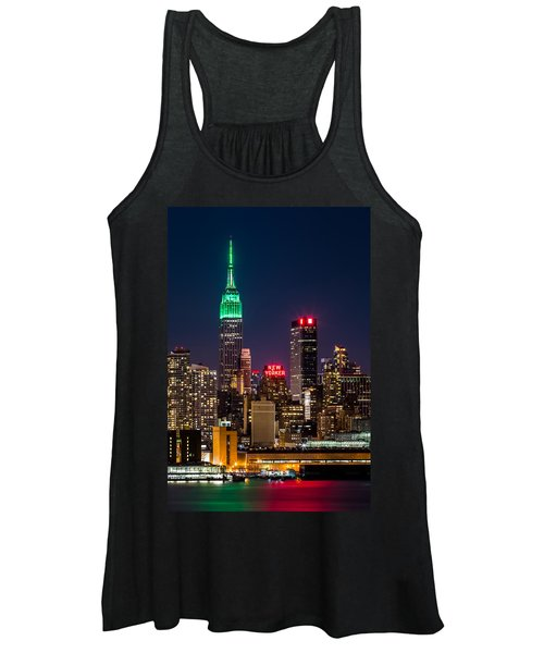 Empire State Building On Saint Patrick's Day Women's Tank Top