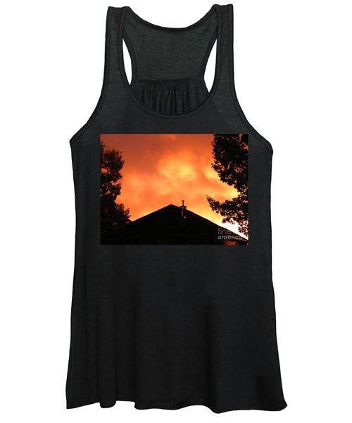 Fire In The Sky Women's Tank Top