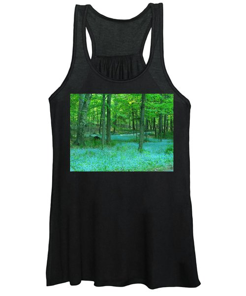 Forget-me-nots In Peninsula State Park Women's Tank Top