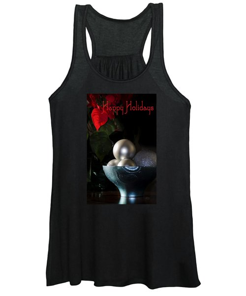 Happy Holidays Greeting Card Women's Tank Top