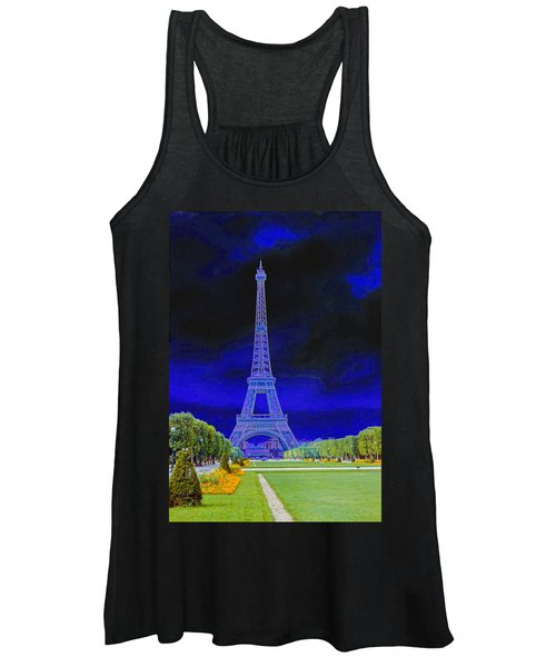 Purple Eiffel Women's Tank Top