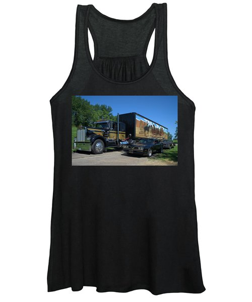 Smokey And The Bandit Tribute 1973 Kenworth Semi Truck And The Bandit Women's Tank Top