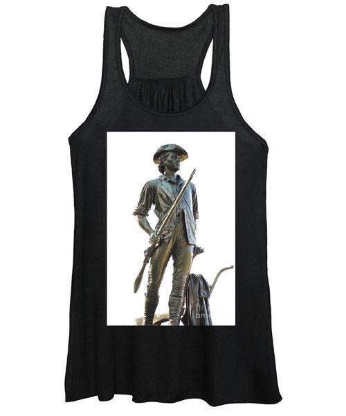 Minute Man Statue Concord Massachusetts Women's Tank Top