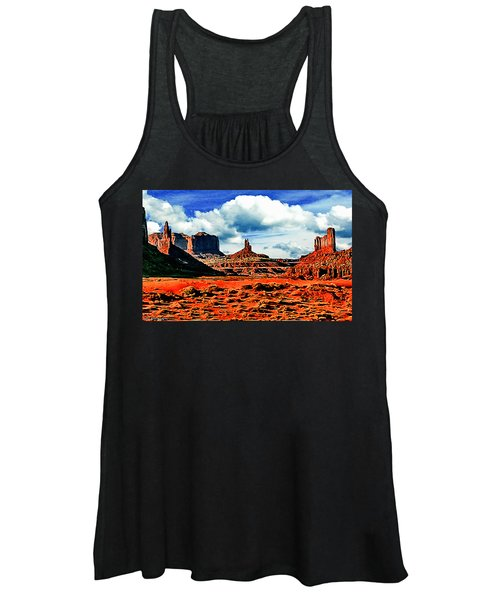 Monument Valley Painting Women's Tank Top
