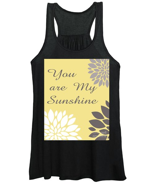 You Are My Sunshine Peony Flowers Women's Tank Top