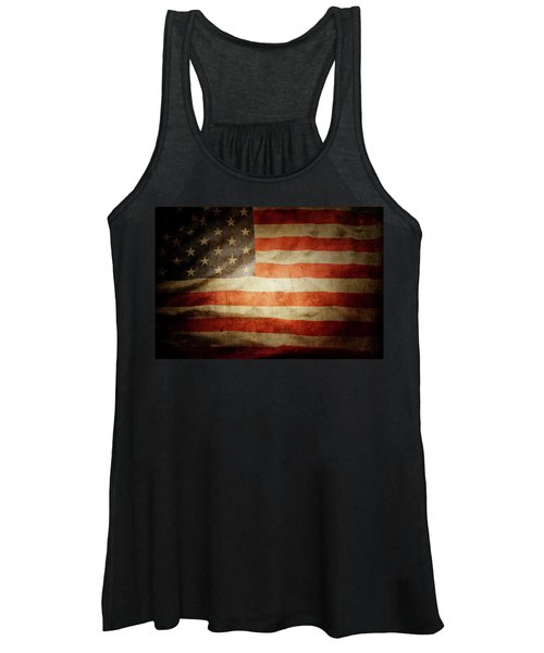 American Flag Rippled Women's Tank Top