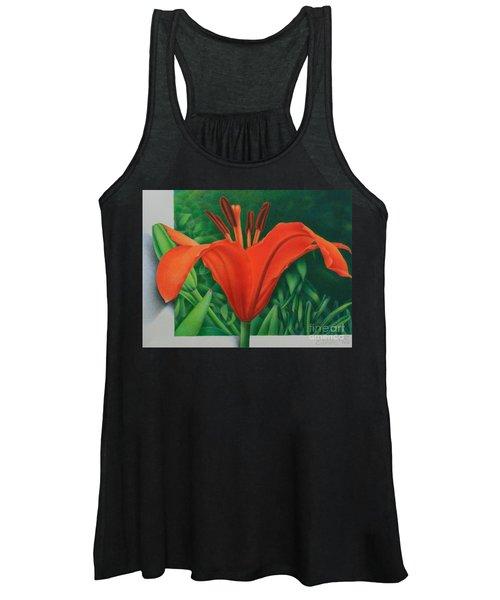 Orange Lily Women's Tank Top