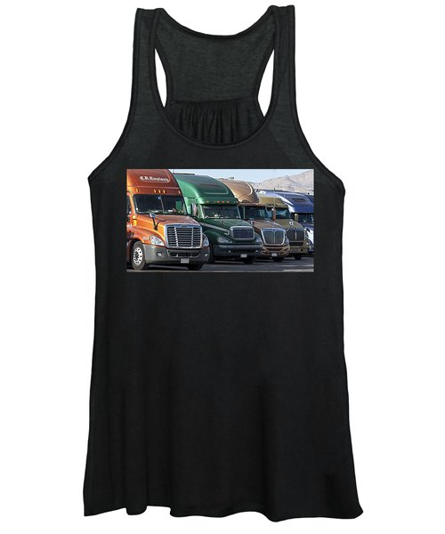 Semi Truck Fleet Women's Tank Top