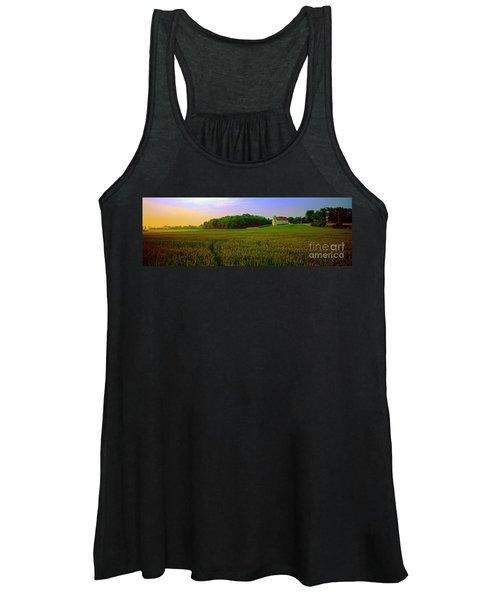Conley Road, Spring, Field, Barn   Women's Tank Top