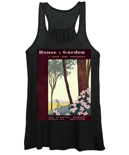 A House And Garden Cover Of A Rural Scene Women's Tank Top