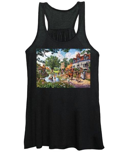 A Village In Summer Women's Tank Top