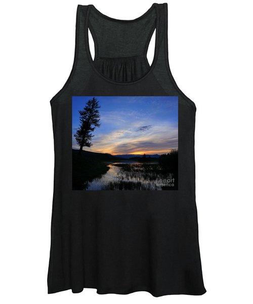 A Yellowstone Lake Before Sunrise Women's Tank Top
