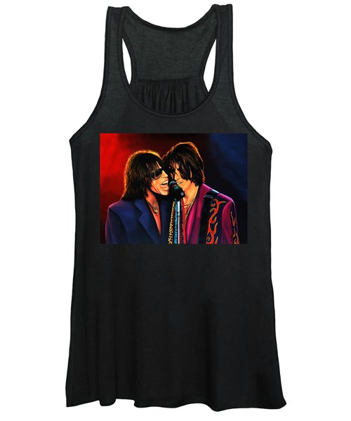 Aerosmith Toxic Twins Painting Women's Tank Top