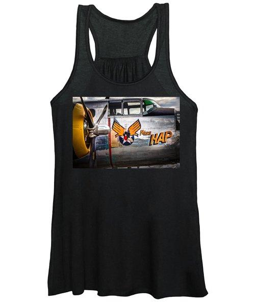 Aircraft Nose Art - Pinup Girl - Miss Hap Women's Tank Top
