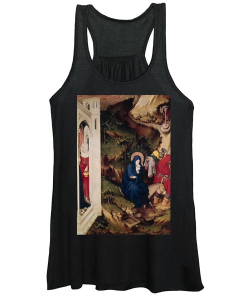 Altarpiece Of The Chartreuse De Champmol, Right Hand Side Depicting The Flight Into Egypt Women's Tank Top