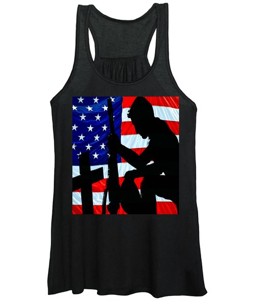A Time To Remember American Flag At Rest Women's Tank Top