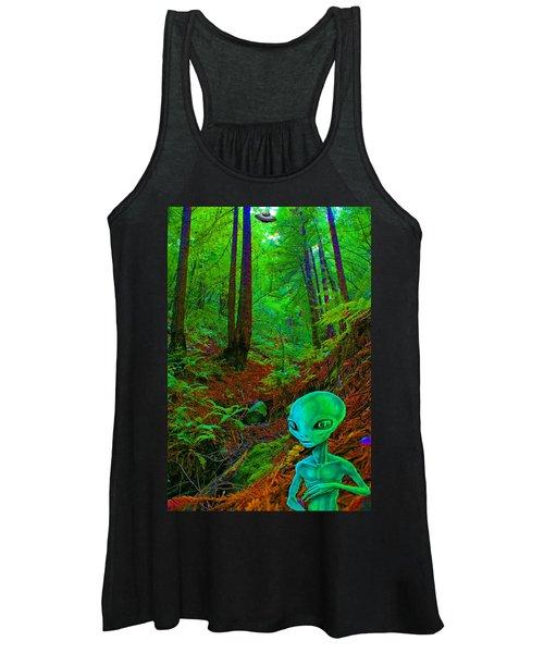 An Alien In A Cosmic Forest Of Time Women's Tank Top