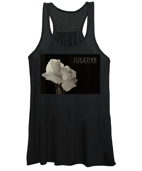 Antique Roses With Message Women's Tank Top
