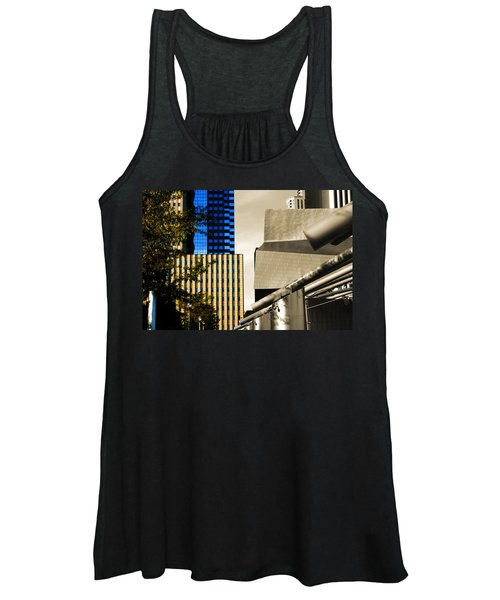 Architectural Crumpled Steel Gehry Women's Tank Top