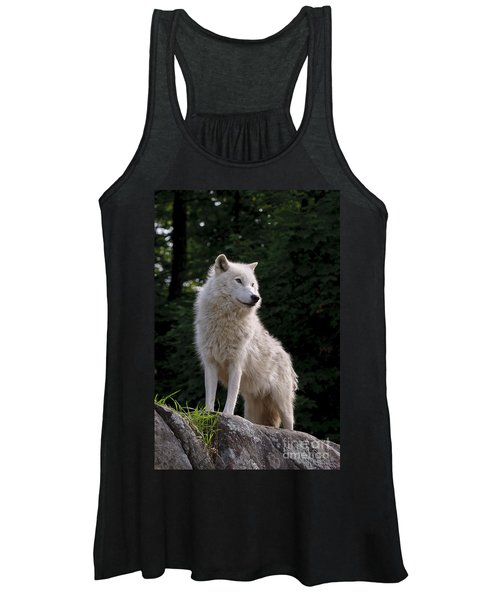 Arctic Wolf On Hill Women's Tank Top