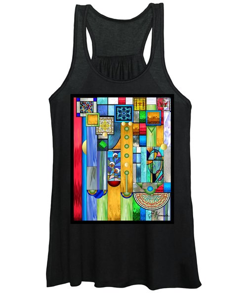 Art Deco Stained Glass 1 Women's Tank Top