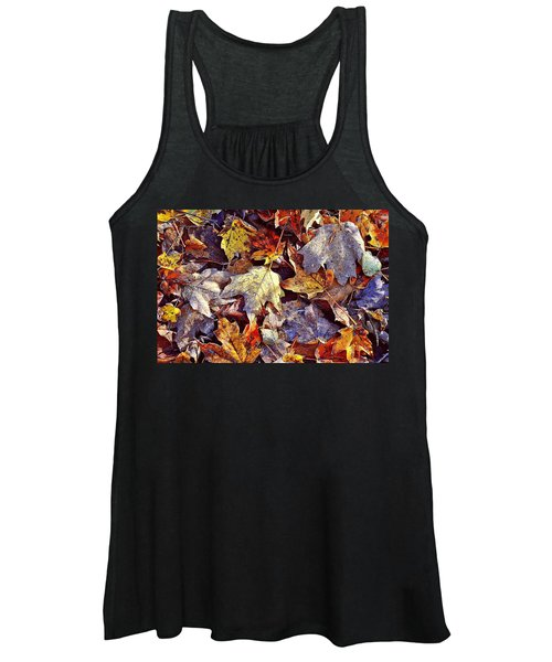 Autumn Leaves With Frost Women's Tank Top