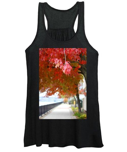 Autumn Sidewalk Women's Tank Top