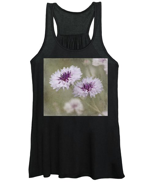 Bachelor Buttons - Flowers Women's Tank Top