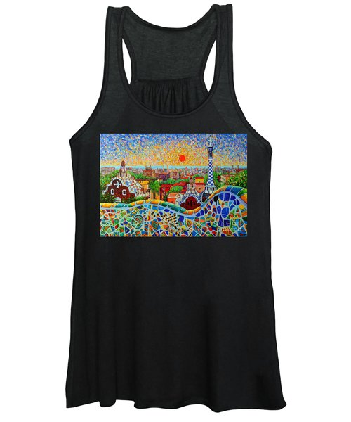 Barcelona View At Sunrise - Park Guell  Of Gaudi Women's Tank Top