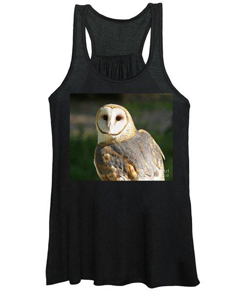 Barn Owl In Bright Sun Women's Tank Top