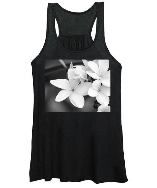 Beautiful Plumeria In Black And White Women's Tank Top