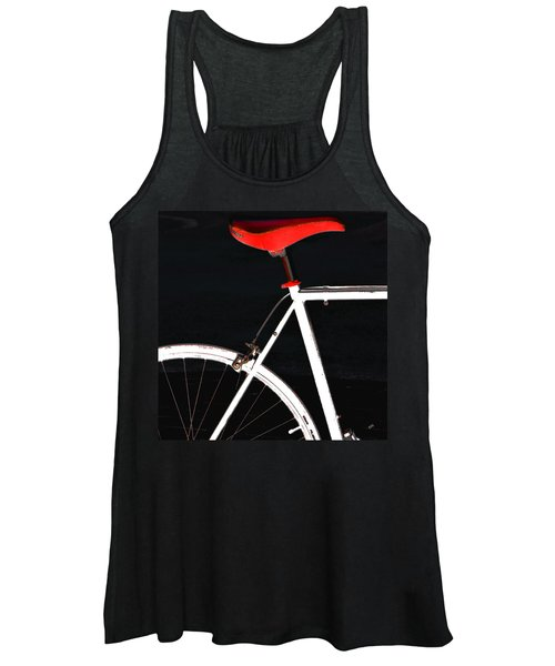 Bike In Black White And Red No 1 Women's Tank Top