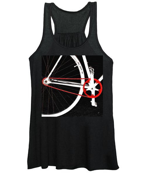 Bike In Black White And Red No 2 Women's Tank Top