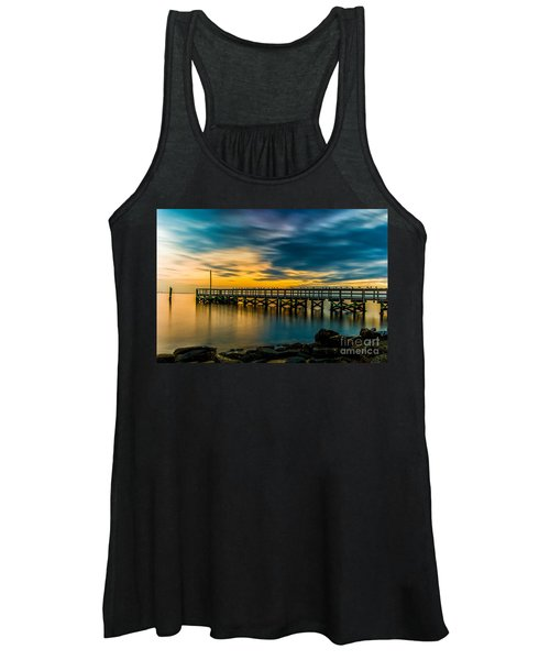 Birds On The Dock Women's Tank Top