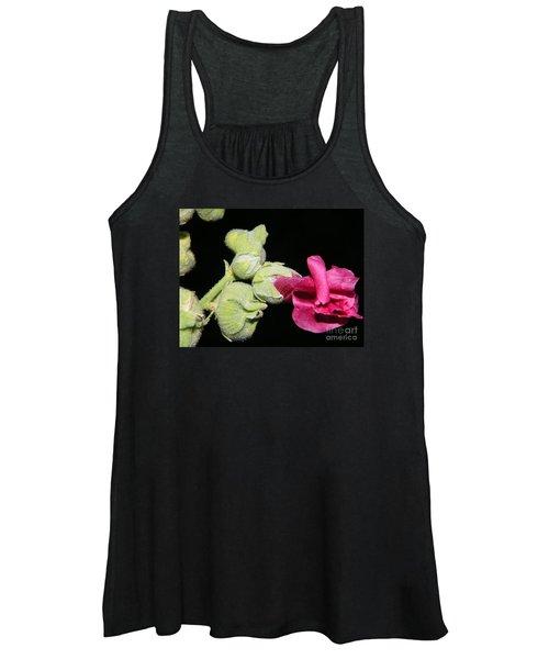 Blooming Pink Hollyhock Women's Tank Top