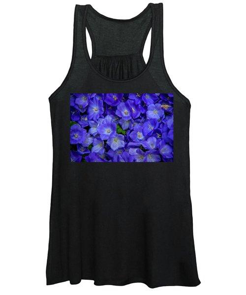 Blue Bells Carpet. Amsterdam Floral Market Women's Tank Top